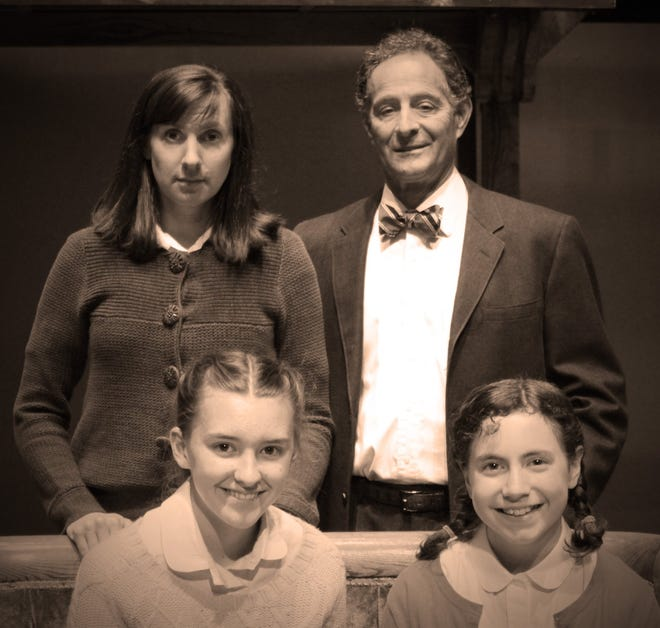 BCT's Frank family (clockwise from top left): Edith (played by Hannah Nelsen), Otto (Martin Goldsmith), Anne (Madilyne Nelsen) and Margot (Marcella Fischer).