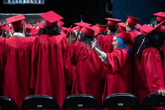 The 2019 Ray High School graduation at the American Bank Center on Thursday, May 31, 2019.