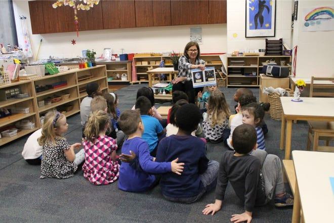 A preschool class at Mercy Montessori