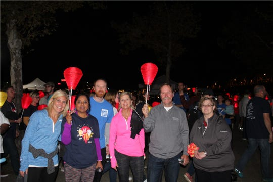 Pension Corp. of America workers at Light Up the Night.