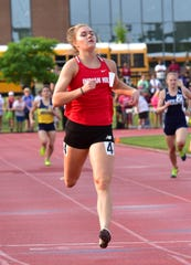 Anna Podojil of Indian Hill advances to the girls 400 dash at the OHSAA Division II State Track and Field Championships at Ohio State University, May 31, 2019