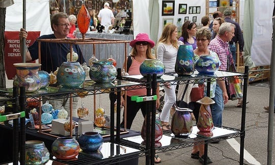 More than 100 clay, glass and metal artists are expected at Royal Oak's the Art of Fire.