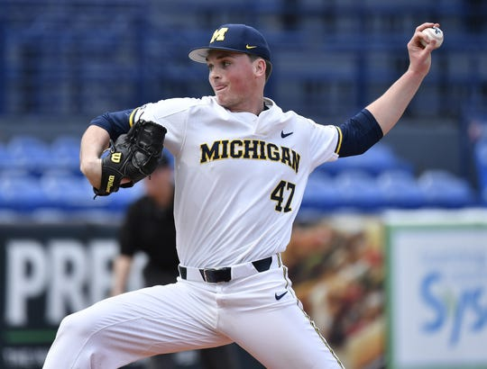 Michigan pitcher Tommy Henry