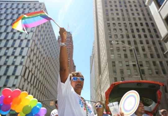 Organizers say the two-day Motor City Pride typically draws crowds of 40,000 to Hart Plaza