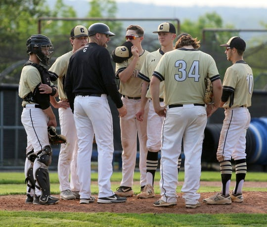 Corning was a 5-4 winner over Ithaca in the deciding Game 3 of the Section 4 Class AA baseball finals May 31, 2019 at Ithaca College.