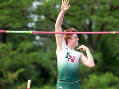 Two national track titles: Cathedral relay and Lawrence North vaulter