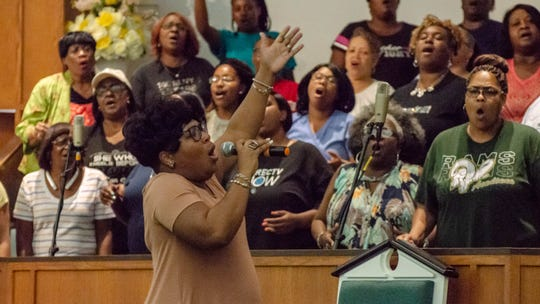 Gospel legend Kurt Carr rehearses with the choir at Progressive Baptist Church  Friday, May 31, 2019 for a concert to raise money for the three historically black churches that burned down in St. Landry Parish earlier this year.