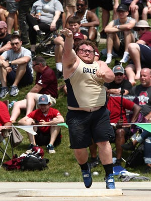 Lancaster's Dalton Golden qualified for the Division I state track and field championships in the shot put in 2019. He was one of several key returners this year for the Golden Gales, before the season was canceled because of the coronavirus pandemic.