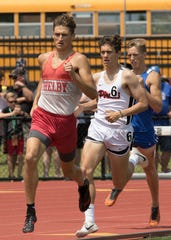 Blake Lucius helped give Shelby a sweep of the four distance races by winning the 800.