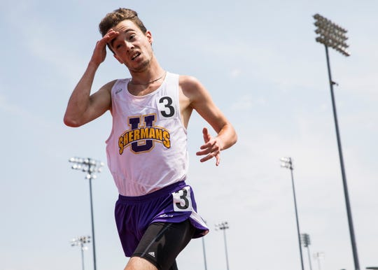 Unioto's Eric Hacker competes in the boys 3200-meter run during a Division II state final on Saturday, June 1, 2019, at the Jesse Owens Memorial Stadium in Columbus, Ohio.