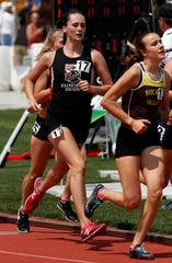 Fairfield Union's Madison Eyman runs in the Division II girls 3,200 meter run Saturday, June 1, 2019, at the state track and field meet at Jesse Owens Stadium in Columbus.