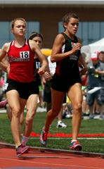 Fairfield Union's Mackenzie Davis runs in the Division II girls 800 meter run Saturday, June 1, 2019, at the state track and field meet at Jesse Owens Stadium in Columbus.