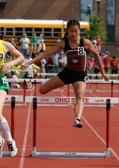 Ridgewood's Grace Gottwalt competes in the girls 300-meter hurdles during the Division III state final last season. Gottwalt recently signed to continue her track career at Division II Hillsdale.
