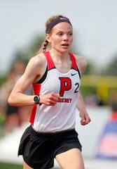 Pinckney's Noelle Adriaens finished third in the 3,200-meter run in the state Division 1 track and field meet on Saturday, June 1, 2019 at East Kentwood.