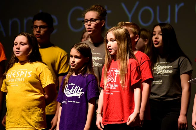 Members of the Renaissance Youth Opera Theatre perform a song from Annie Get Your Gun.