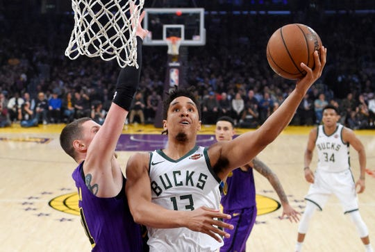 Malcolm Brogdon was a big part of the Bucks' offense as he used repeated drives to the basket and 42.6% shooting from three-point territory to average 15.6 points per game this season.