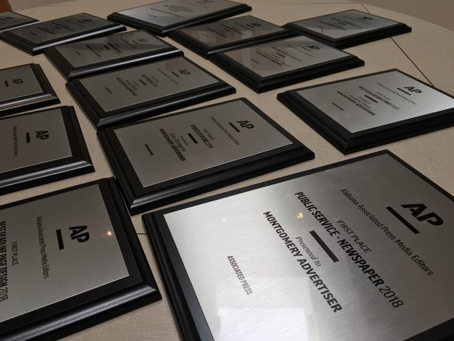 The Montgomery Advertiser won 24 awards Saturday at an Alabama Associated Press Media Editors ceremony honoring some of the state's top journalism over the past year.