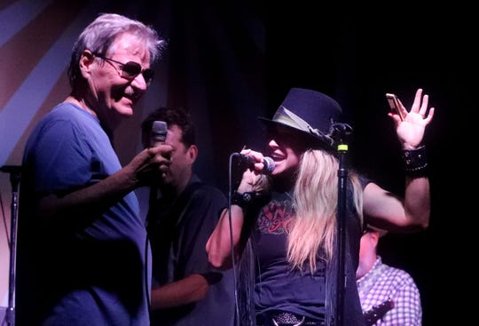 Heidi Newfield sings with Delbert McClinton on the first day of the 895 Fest on Friday, May 31, 2019, at Hop Springs Beer Park, in Murfreesboro, Tenn.