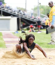 Isabelle Dely, of Paramus Catholic, jumped a personal best 18 feet 10 3/4 inches to win the Non-Public A long jump title Friday, May 31, 2019, one of five events won by North Jersey athletes on the first day of the state Group meet.