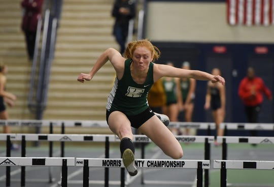 Kathryn Brown of Kinnelon qualified for the NJSIAA Meet of Champions by winning the Group 1 long jump title and taking silver in the 100 hurdles and triple jump.