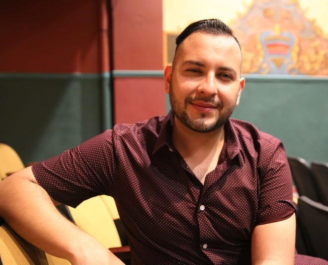 """Filmmaker Joe Lujan, who was born in Las Cruces and grew up in El Paso, attends a screening of his latest films in the """"Immortal Wars"""" series Saturday, June 1, 2019, at the Rio Grande Theatre."""