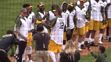 At the 2019 Green & Gold Charity Softball Game, Packers players enjoyed some friendly competition and team bonding.