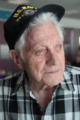 Jack Gutman waits to board a plane to Dallas at the Palm Springs International Airport, June 1, 2019. Mr. Gutman is part of a group of D-Day veterans traveling to Normandy for the 75th anniversary of D-Day.
