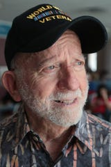 George Ciampa waits to board a plane to Dallas at the Palm Springs International Airport, June 1, 2019. Mr. Ciampa organized a group of D-Day veterans to travel to Normandy for the 75th anniversary of D-Day.