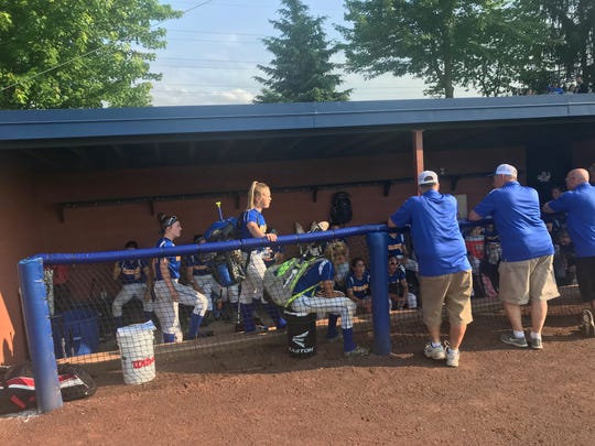 The Northern Lebanon softball team meets for the final time following Friday's 6-3 loss to West Perry in the District 3 4A consolation game at LVC Softball Park.