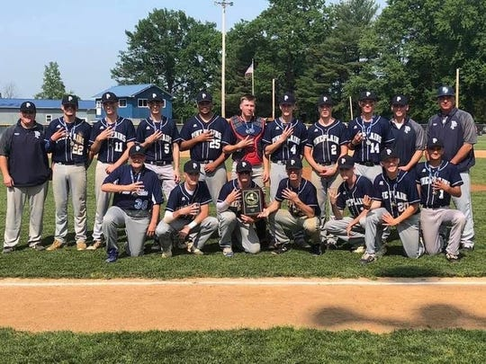 The Pine Plains baseball team poses after winning the Section 9 Class C championship on Saturday.