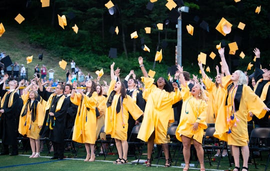 Red Lion High School students celebrate graduation, Friday, May 31, 2019.