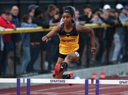 Spencerport's Vanessa Watson won the 400 meter hurdles at the Division I state qualifier last week.