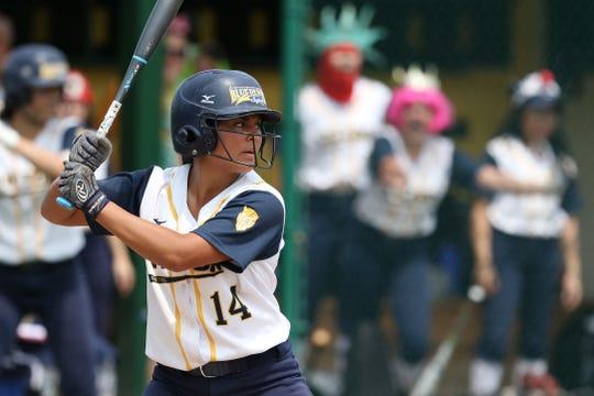 Victor's Erin Wong at bat.
