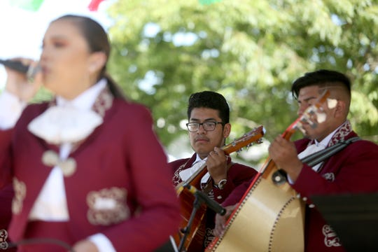 The Woodburn High School mariachi band performs during the Taste of Woodburn in downtown Woodburn on June 1, 2019. The event continues Sunday with food and live music and dancing.