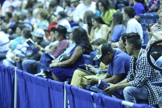 Families wait to see their Central graduates cross the stage at the Junell Center, 2235 S. Jackson St., Saturday, June 1, 2019.