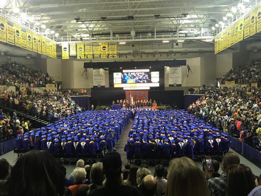 Central graduates and families fill the Junell Center, 2235 S. Jackson St., Saturday, June 1, 2019.