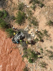 A car was found upside down in the Virgin River south of St. George on Friday, May 31, 2019.