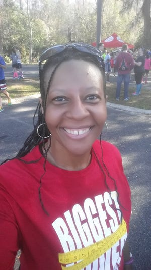 Lisa Randolph, Police Records Technician, City of Tallahassee, has lost 80 pounds.