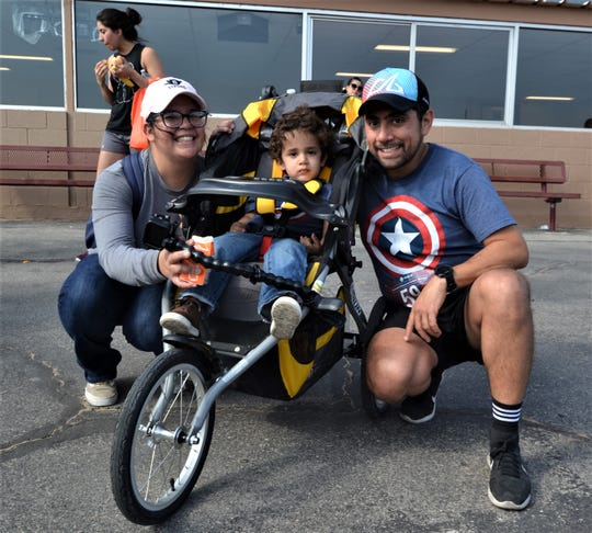Elisa and Victor Garcia with son Victor Jr. at the Lee & Beulah Moor Children's Home's 17th Annual Walk/Run for Families in Crisis on Saturday, June 1, 2019, at Sunland Park Racetrack & Casino.