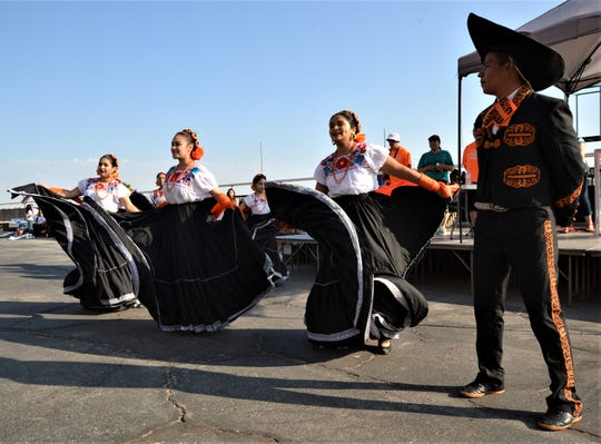 Ballet Folklorico Tecuani of El Paso High School at the Lee & Beulah Moor Children's Home's 17th Annual Walk/Run for Families in Crisis on Saturday, June 1, 2019, at Sunland Park Racetrack & Casino.