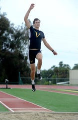 Ventura High's Derek Pekar was eighth in the state in the long jump and ninth in the 110 hurdles.