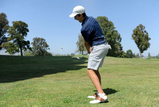 Camarillo's Joey Zambri, hitting a shot at Las Posas Country Club, is The Star's Boys Golfer of the Year.