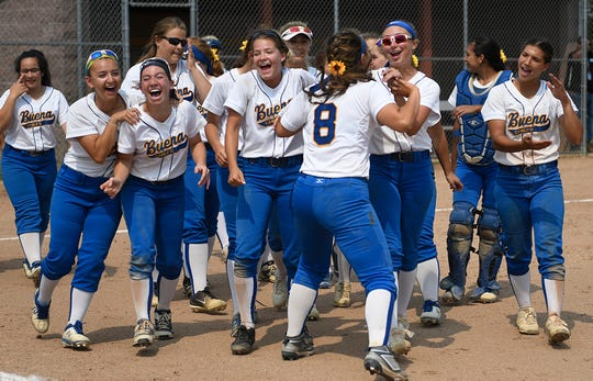 The Buena Regional High School softball team won its state semifinal game with a 9-0 victory over South Hunterdon at Rowan College of Gloucester County last spring. This year's season has been put on hold because of the coronavirus pandemic.