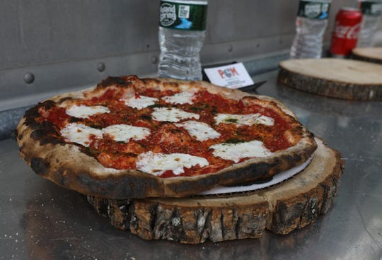 Wood-fired pizza from Pie Oh My! at the Food Truck Mash-Up at Anthony Wayne Recreation Area in Harriman State Park on June 1, 2019.