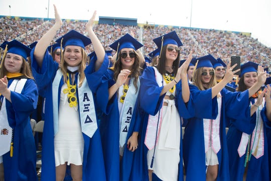 In 2019, the University of Delaware held it's 170th commencement ceremony for approximately 6,200 graduates at Delaware Stadium.