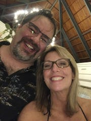 This undated selfie taken by Tammy Lawrence-Daley shows her with her husband, Chris Daley.