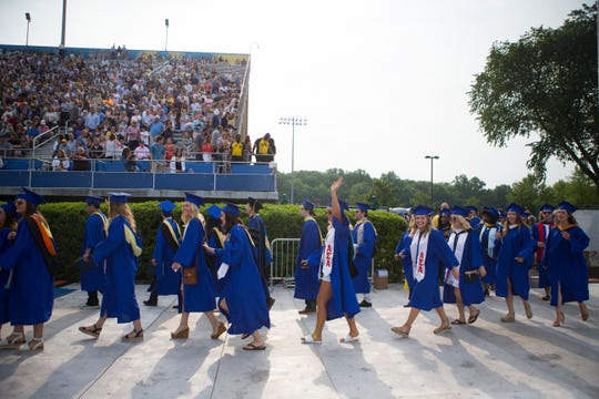 The University of Delaware hosts it's 170th commencement ceremonies for approximately 6,200 graduates at Delaware Stadium Saturday.