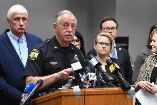 Virginia Beach Chief of Police Jim Cervera vows not to publicly utter the name of the gunman in Friday's massacre after he was initially identified.