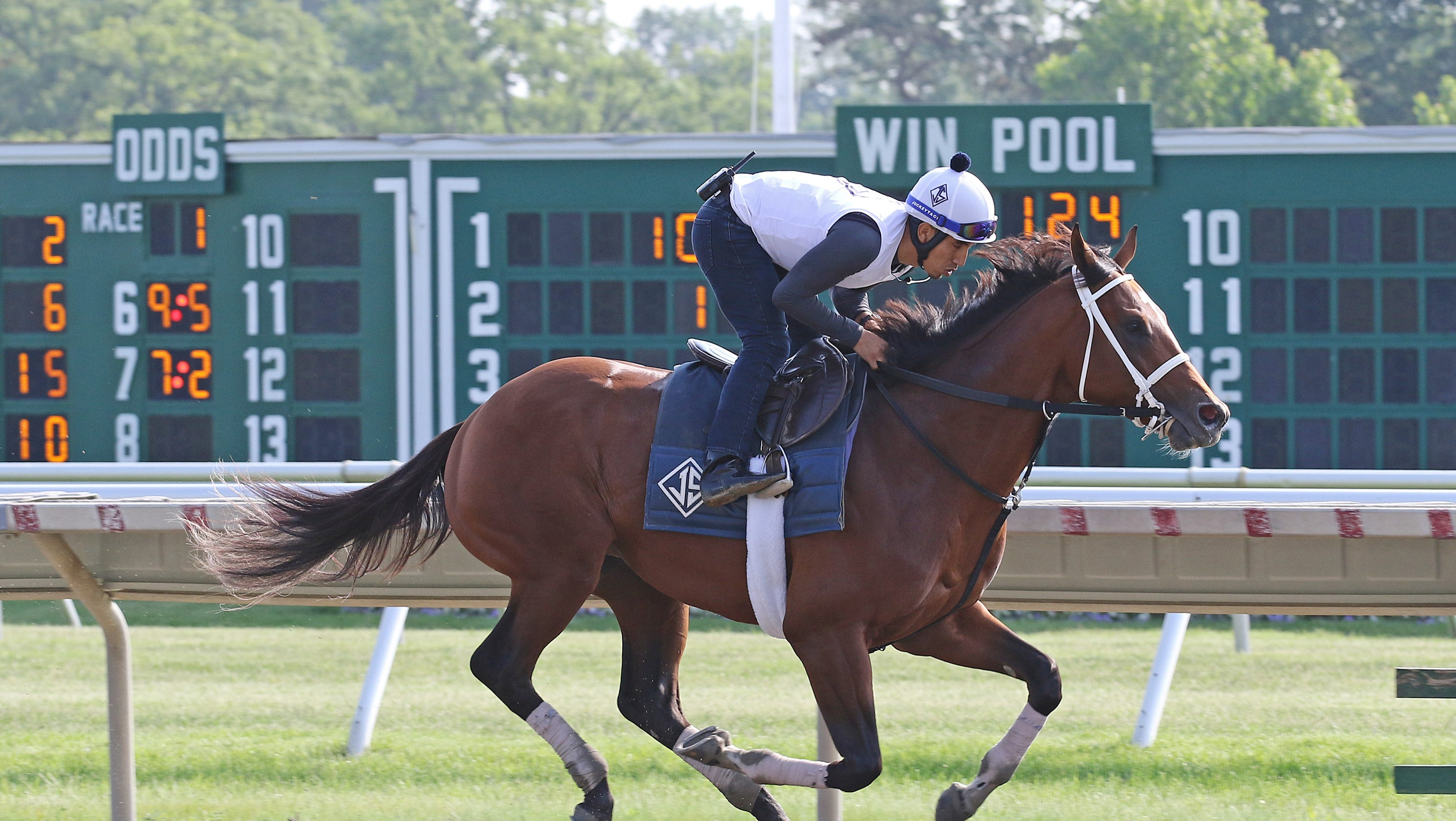 Maximum Security Breezes In Preparation For Monmouth Park Race
