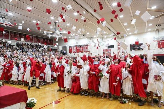 Graduation at Indian Hill High School